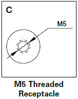 M5 Threaded Receptacle