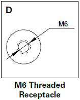M6 Threaded Receptacle